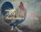 SALE - SALE  Note Cards -- Roosters ASSORTMENT