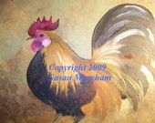 SALE - - SALE     Note Cards - ROOSTERS  - Now 8.50 plus shipping