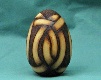 Celtic Woodburning Egg