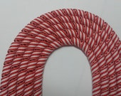 Peppermint  Striped Korked Ribbon