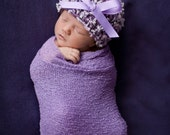 Newborn hat in plum and lavender,Baby girl hat,Baby hat,Baby Beanie,Newborn hat,Baby shower gift,Newborn,Photo Prop,Girl hat,Infant Hat,