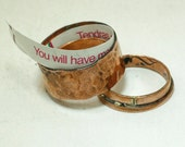 Rustic Copper Secret Message Ring