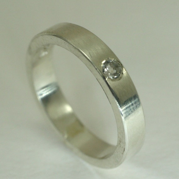Flush Mount Solitaire Ring