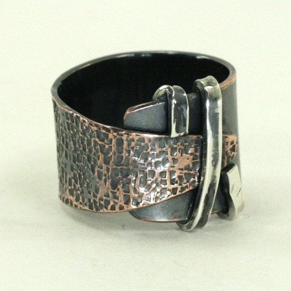 Hand Forged Rustic Copper Wrap Ring