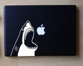 Chompy the Shark Decal Macbook Laptop