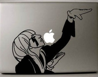 Lady Gaga Decal Macbook Laptop