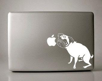 Angelina the Pug Decal Apple Macbook Laptop