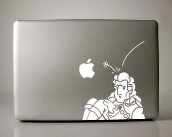 Isaac Newton Gravity Decal Macbook Laptop