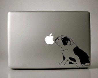 English Bulldog Decal Apple Macbook Laptop