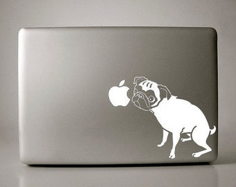 Angelina the Pug Decal Apple Macbook Laptop