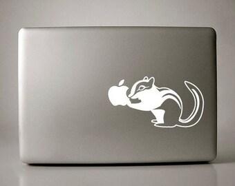 Chipmunks Chipper Decal Apple Macbook Laptop
