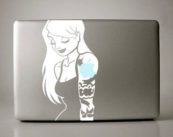 Blonde Tattoo Sleeve Girl Decal Apple Macbook Laptop