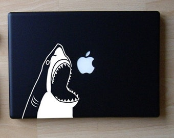 Chompy the Shark Decal Macbook Laptop