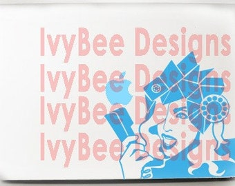 Telephone Hat Lady Gaga-Inspired Decal Macbook Apple Laptop