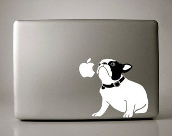 Bella the French Bulldog Sitting Decal Macbook Apple Laptop