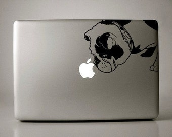 Brit the English Bulldog Decal Apple Macbook