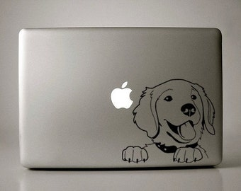 Golden Retriever Decal Macbook Laptop