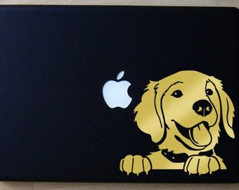 Prince the Golden Retriever Decal Macbook Laptop
