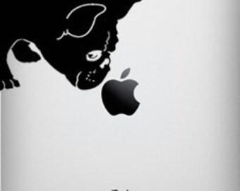 French Bulldog Sniff Decal for iPad 1, iPad 2, or iPad Air