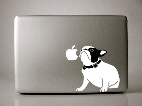 Bella the French Bulldog Sitting Decal Macbook Apple Laptop