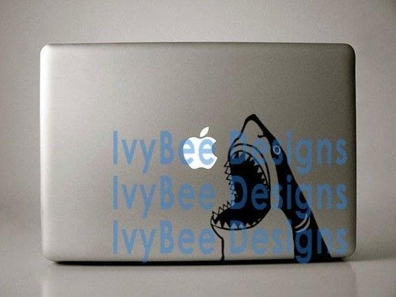 Shark Decal Macbook Laptop