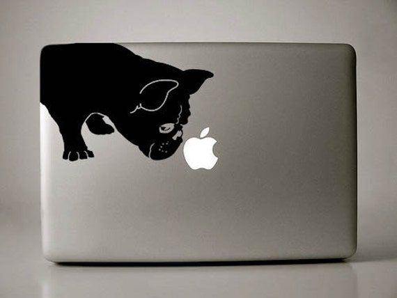 French Bulldog Sniffs Decal Macbook Apple Laptop
