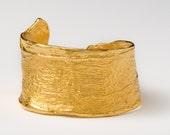14k gold plates banana peel bracelet