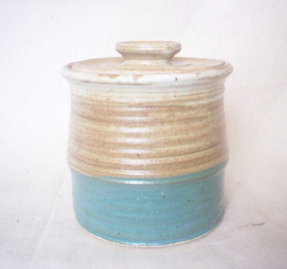 Tan and Turquoise Jar