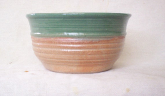 Green and Cream Bowl