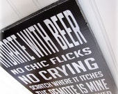 Man Cave Rules Typography Sign