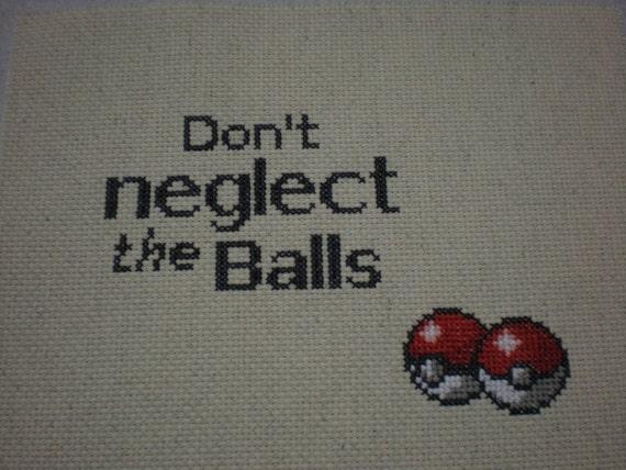 Pokemon - Don't Neglect the Balls - Cross Stitch