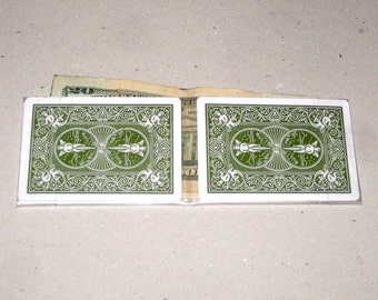 Playing Card Wallet (Eco-Friendly Green Bifold)