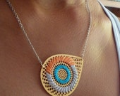 AI Embroidered Necklace - TURQUOISE