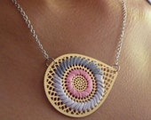 AI EMBROIDERED NECKLACE - BUBBLEGUM