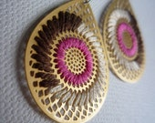 AI EMBROIDERED EARRINGS - STRAWBERRY