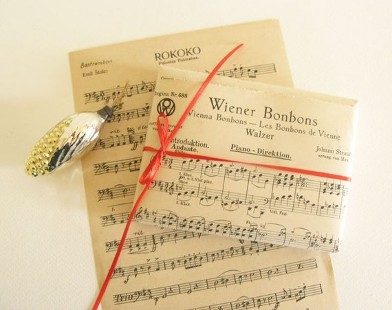 Vintage Music Sheets Eco Chic Gift Wrapping Paper on Etsy