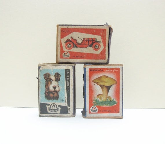 Vintage Shabby & Chic Match Boxes Instant Collection A Set of Three on Etsy