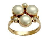 RESERVED TO christine1007 - repair - Unforgettable moments - 14K rose gold ring inlaid fresh water pearls.
