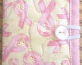 Faith, Hope, and Love Pink Ribbons Needle Case or Pierced Earring Case