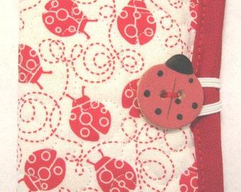 Ladybug Needle Case or Pierced Earring Case