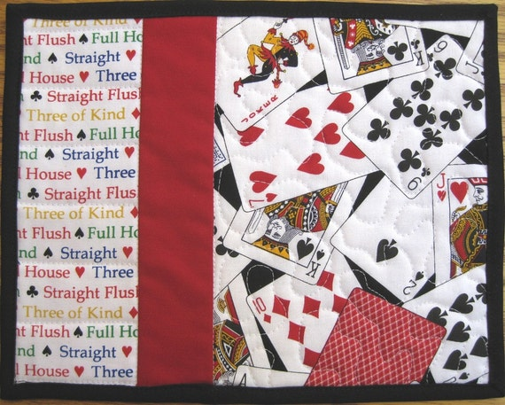 Custom Listing for Robin W. Only - Playing Cards Mug Rugs - Set of 2