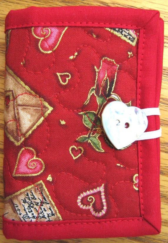 Love Letters Needle Case or Pierced Earring Travel Case