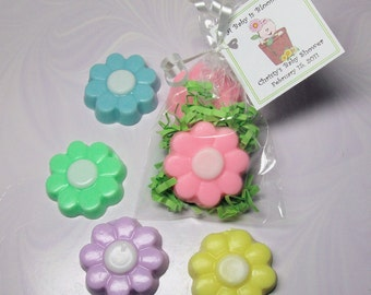 Baby Shower Soap Favor-A Baby is Blooming - Great for Birthday or Bridal Shower Party- Set of 10