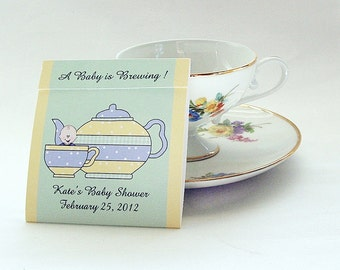 25- Baby Shower Teabag Favors-Great for Bridal Shower or Tea Parties