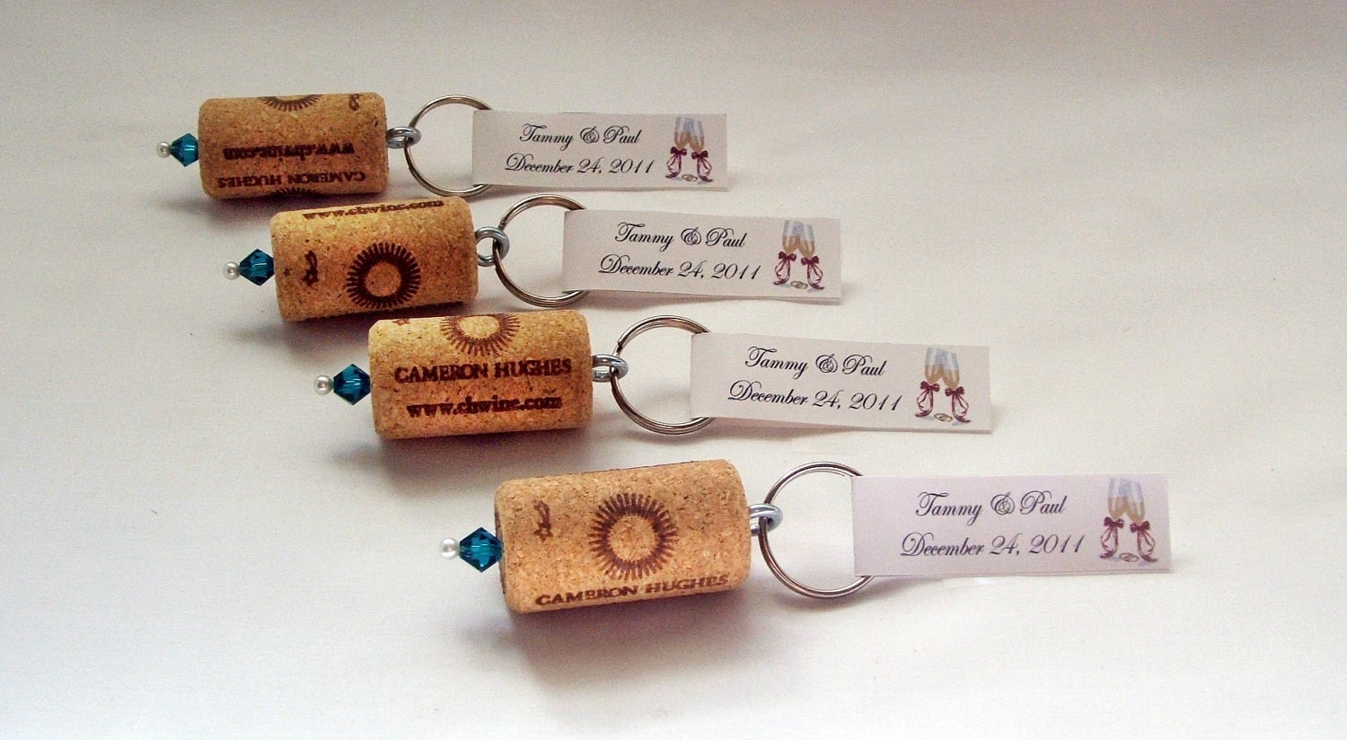 50 Wine Cork Keychain Favors Great Wedding By 4alloccasionfavors