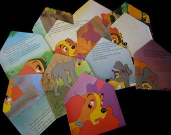 Lady and the Tramp Upcycled Envelopes