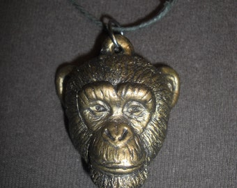 Large chimpanzee pendant / necklace