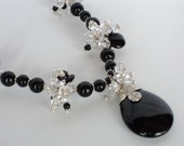 Black Onyx and Crystal Elegance