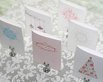 letterpress christmas cards - 6 assorted