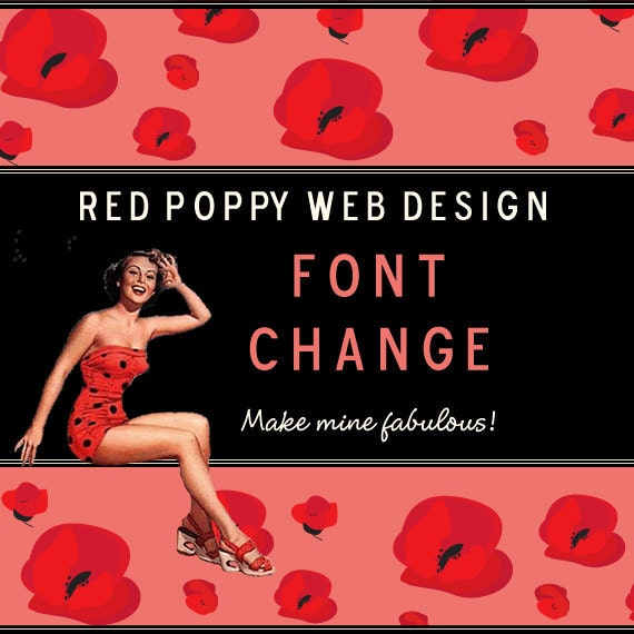 Change the FONT of your Premade Etsy Shop Set, Banner, Business Cards, Avatars, Graphics, Stickers or Hangtags
